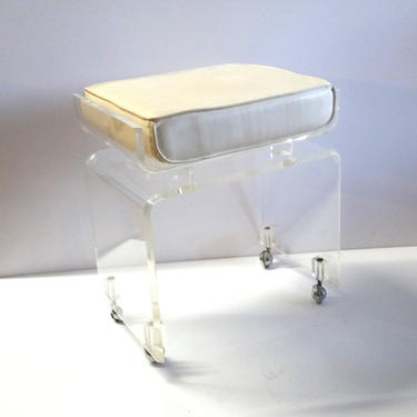 Mid Century Waterfall Lucite Chair / Stool by ModernPicks