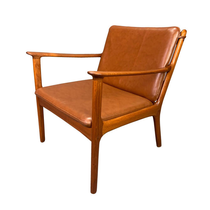 "Vintage Danish Mid Century Modern Teak Lounge Chair ""PJ112"" by Ole Wanscher by AymerickModern"