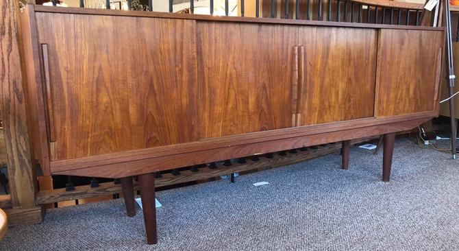 Vintage Danish Mid Century Modern Credenza Cabinet Storage with one Drawer by BigWhaleConsignment