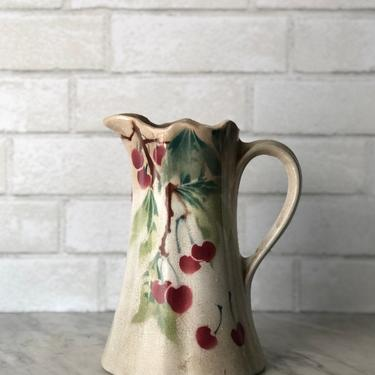 Antique French Ironstone Pitcher by AnticaMarket