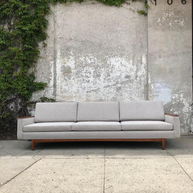 Designer Vintage Reupholstered Sofa