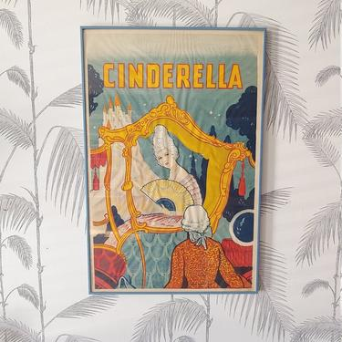 Vintage Poster, Cinderella, Theater Performance, Taylors Wombwell, Yorks, Framed, circa 20's by colortheoryBoston