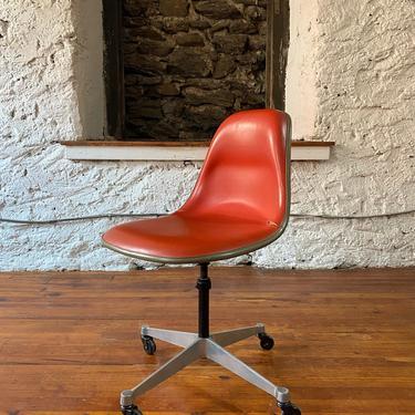 Mid century desk chair Eames shell chair Herman Miller chair by VintaDelphia