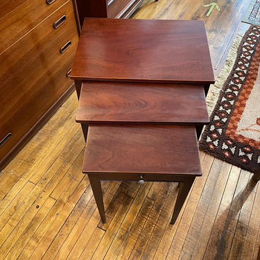 Vintage Set of Mahogany Nesting Tables