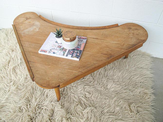 Beautiful Vintage Mid-century Solid Wood Boomerang Coffee Table by PortlandRevibe