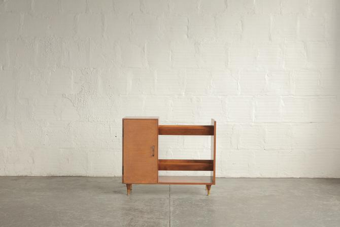 Small Angled Bookcase With Storage