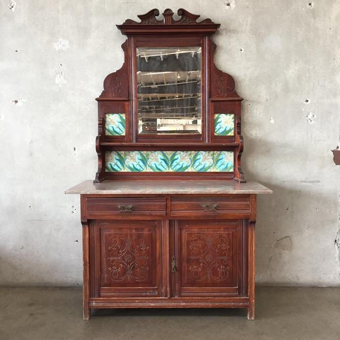 Antique Wakefield Sideboard with Marble Top