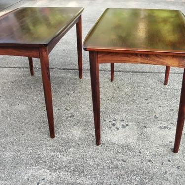 Danish Scandinavian Brazilian Rosewood End Table by DanishGarage