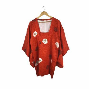 Vintage Japanese Burnt Orange Silk Kimono Jacket by Northforkvintageshop