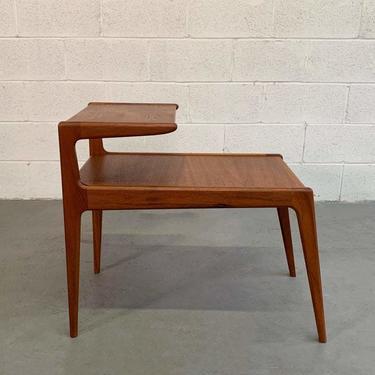 Scandinavian Modern Teak Stepped Side Table