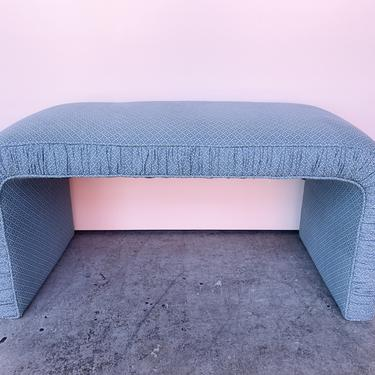 Upholstered Waterfall Bench