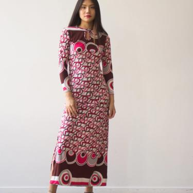 1970s Pucci-esque Jersey Maxi Dress by waywardcollection