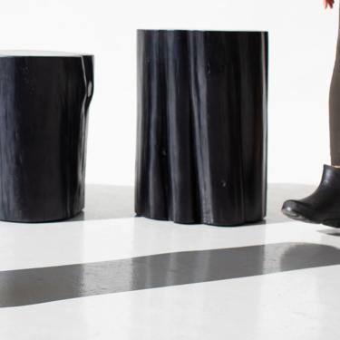 Black Stump Side Table by BertuHome