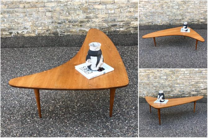 Solid Cherry Boomerang Coffee Table