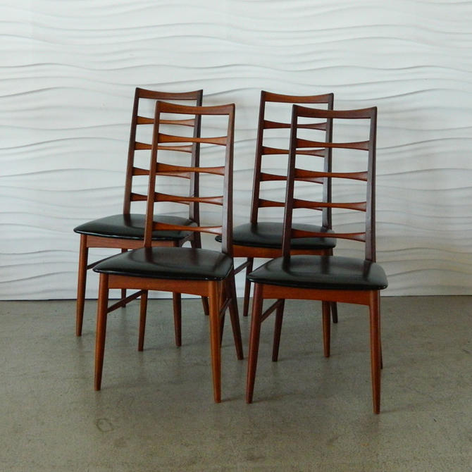 HA-C7998 Set of Four Teak Niels Hornslet Dining Chairs