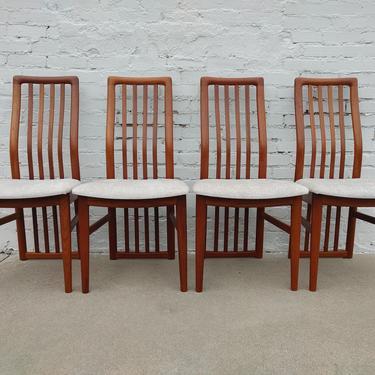 Mid Century Modern Kai Kristiansen Teak Dining Chairs by VintageVaultTulsa