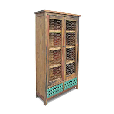 China Cabinet, Bookcase, Farmhouse, Display Cabinet, Reclaimed Wood, Bookshelf, Handmade, Rustic by VintageMillWerks