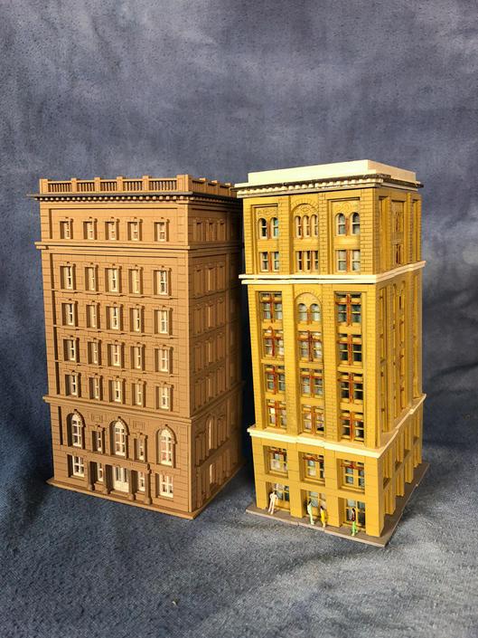 Custom Model Railroad Lot Midtown Apartments Saint Paul Building Models N  Scale Diorama by VintageGoofball