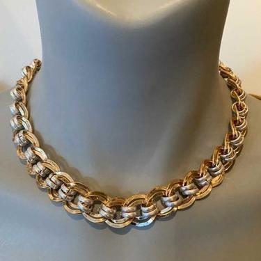 Gold & Silver ribbon necklace