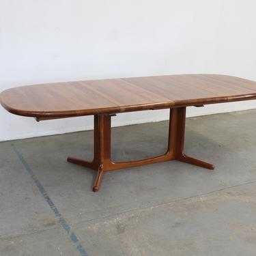 Mid-Century Danish Modern Teak Extendable Surfboard Dining Table by AnnexMarketplace