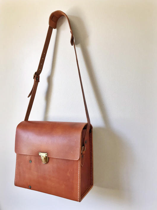 Vintage Leather Satchel Camera Bag by SpeakVintageDC