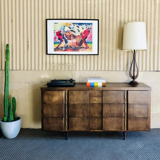 MCM Mahogany Dresser by American of Martinsville