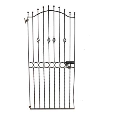 Antique English Wrought Iron Entry Or Garden Gate by PickeryPlace