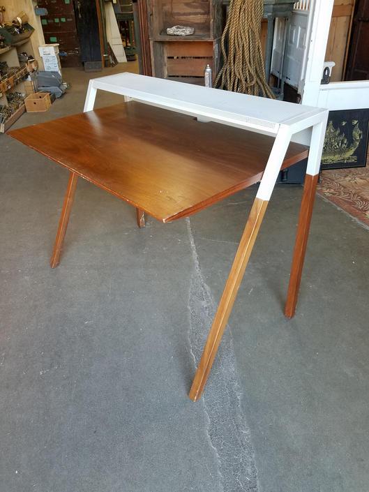 Walnut Veneer & Metal Desk