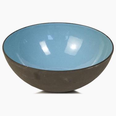 Danish Krenit Enameled Bowl Herbert Krenchel Light Blue Small Mid Century Modern by VintageInquisitor
