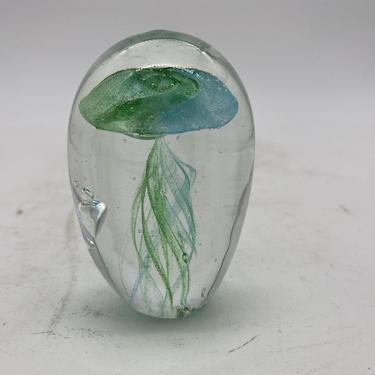Coastal Beach Sea Green Hand-Blown Glass Case Jellyfish by HarveysonBeverly
