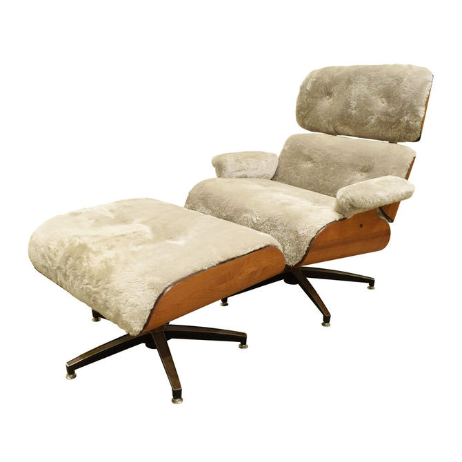 Danish Eames Style Chair And Ottoman 1970s