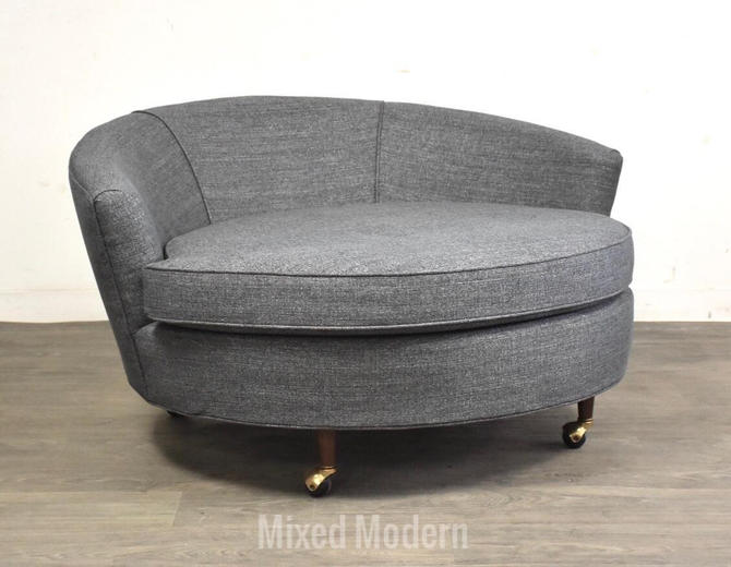 Adrian Pearsall Craft Associates Walnut Grey Lounge Chair by mixedmodern1