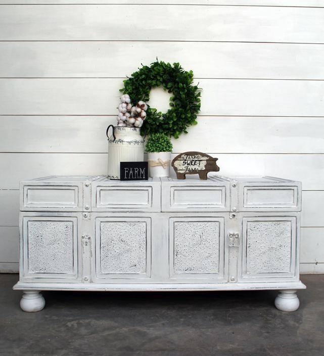 Vintage Style Trunk Coffee Table – Farmhouse White