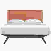 Mid Century Orange King Bed