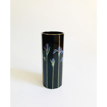 Vintage Black Iris Vase by Otagiri by SergeantSailor