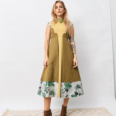 Sikaa Colorblock Jacquard Midi Dress, Size 8