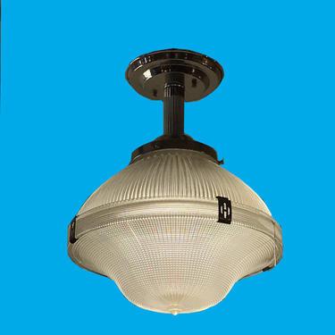 Industrial Style Prismatic Holophane Pendant