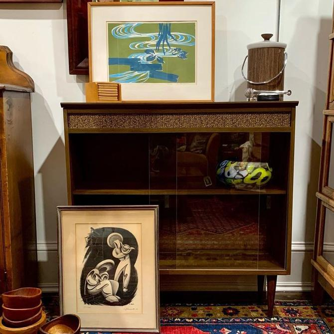 Mid-century modern, glass front bookcase / display cabinet