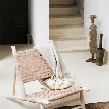 Moroccan Leather Accent Chair by CangguHome