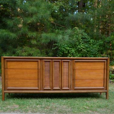 Mid Century Thomasville Nine drawer Triple Dresser by RossDesignCompany