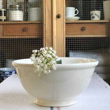 Beautiful huge antique Dutch ironstone mixing bowl from a famous maker Societe Maestricht Holland by Grainsacfrenchvintag