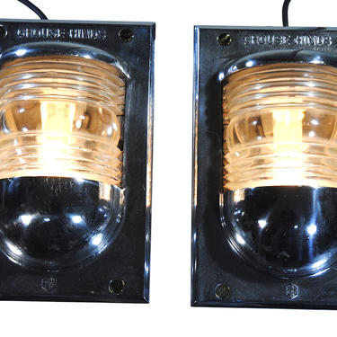 Set of 2 Crouse Hinds Industrial Nautical Ship Lights