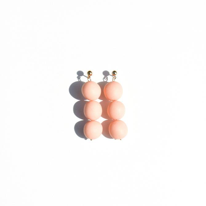 Trio Drop in Peach