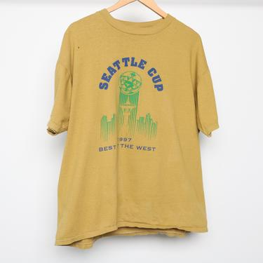 vintage SEATTLE CUP diadora SOCCER large 90s vintage soccer t-shirt top - size xl by CairoVintage
