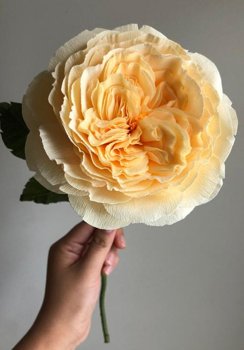 Crepe Paper Juliet Rose -- Paper Flowers for Home Decor or Weddings by ReveryPaperFlora