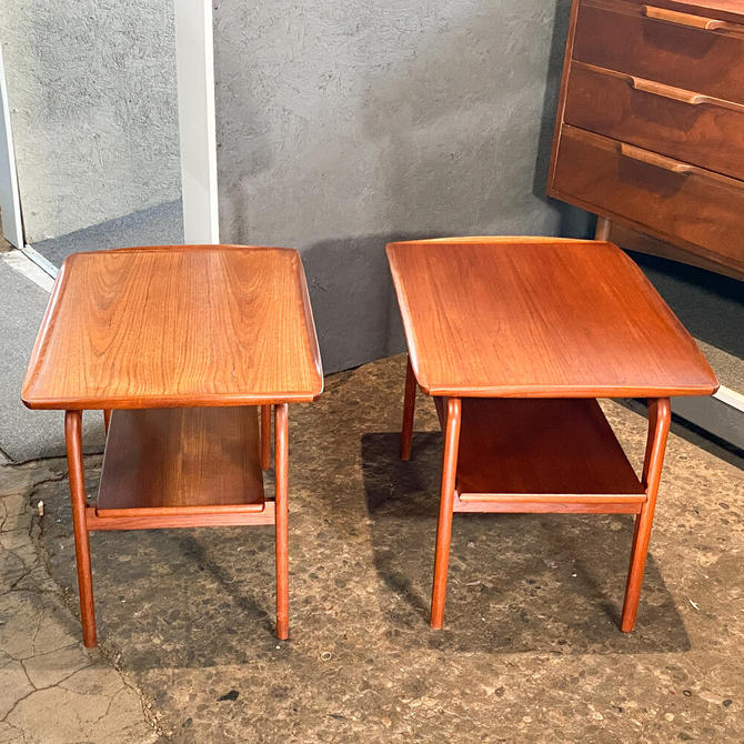 Danish two tier end tables