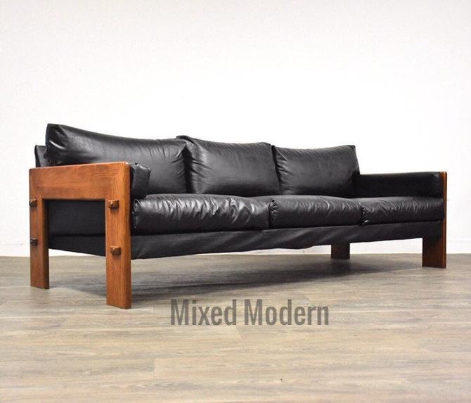 Brazilian Style Black Modern Sofa by mixedmodern1