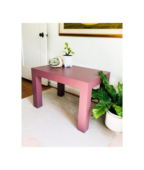 Vintage 80s Purple Laminate Side Table / FREE SHIPPING by SergeantSailor
