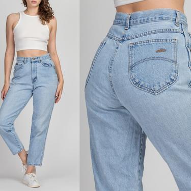 "Vintage Chic High Waist Mom Jeans - Medium, 28""   80s 90s High Rise Denim Tapered Leg Jeans by FlyingAppleVintage"