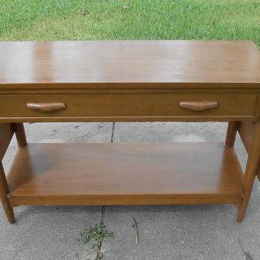 Vintage Mid Century Modern Contemporary Drop Leaf Console Table Entryway Foyer Table Shelf Buffet Atomic Age Wood Furniture Danish Modern by kissmyattvintage